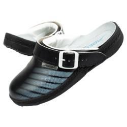 Klapki chodaki buty medyczne Abeba skóra [7212]